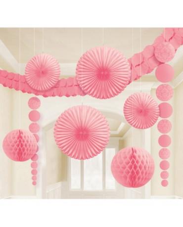 Bledoružový set dekorácií 9ks