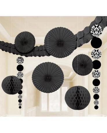 Čierny set dekorácií 9ks