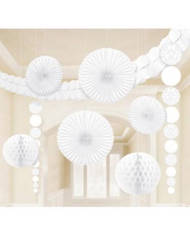 Biely set dekorácií 9ks