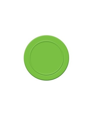 Tanieriky - zelené 18 cm - 6 ks