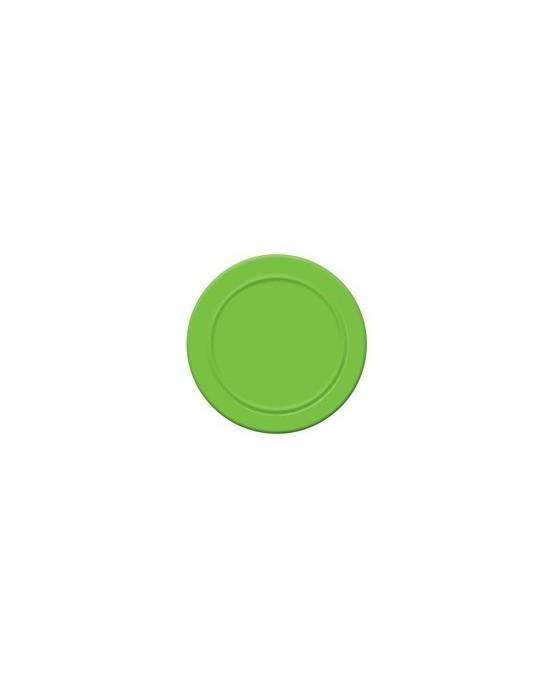 Papierové tanieriky - zelené 18 cm - 6 ks/P107