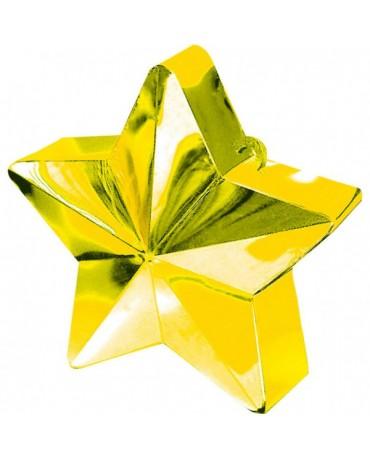 Závažie na balóny -hviezda-zlatá