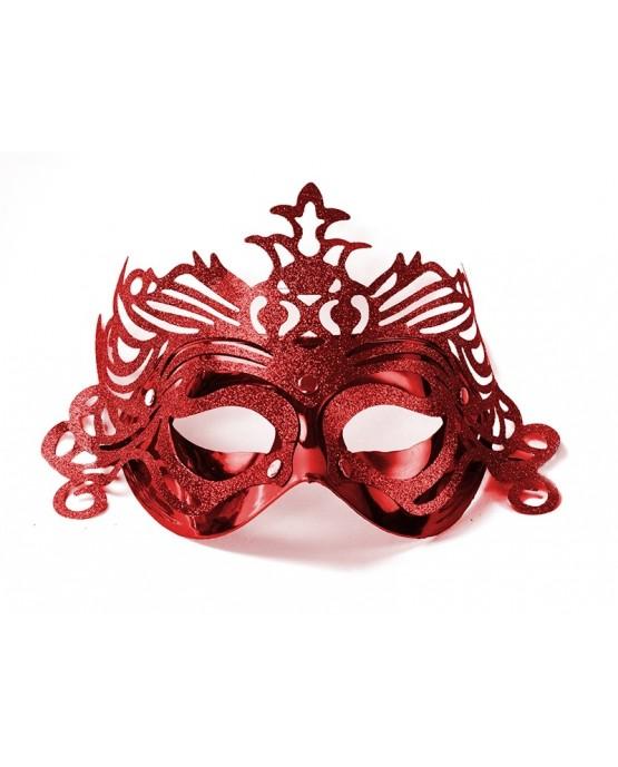 Benátska maska -červená s ornamentom