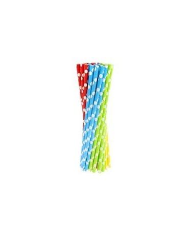 Papierové slamky - viacfarebné 240ks