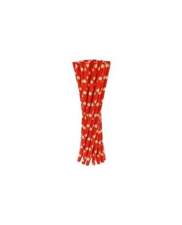 Slamky - červené sedmokrások 24ks/P97