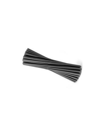 Slamky - čierne 25 cm - 20ks/P96