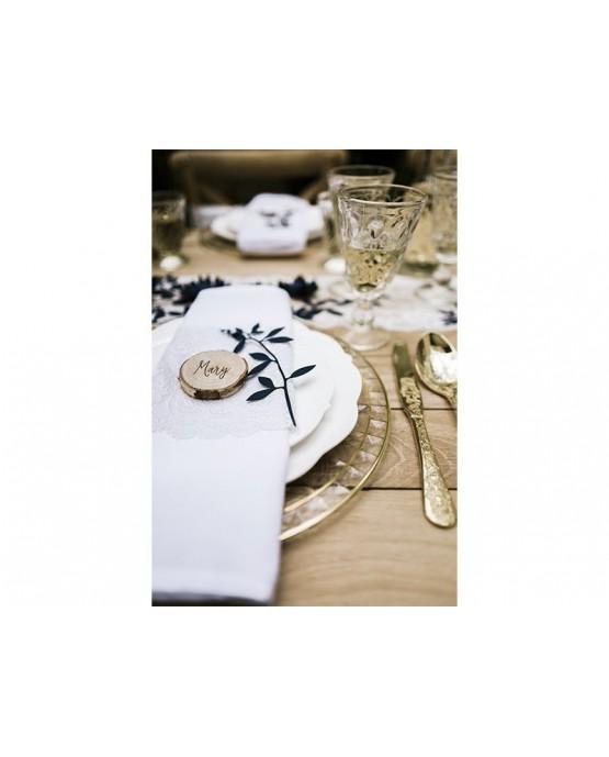 Dekorácie na stôl -vetvičky -tmavomodré  9ks