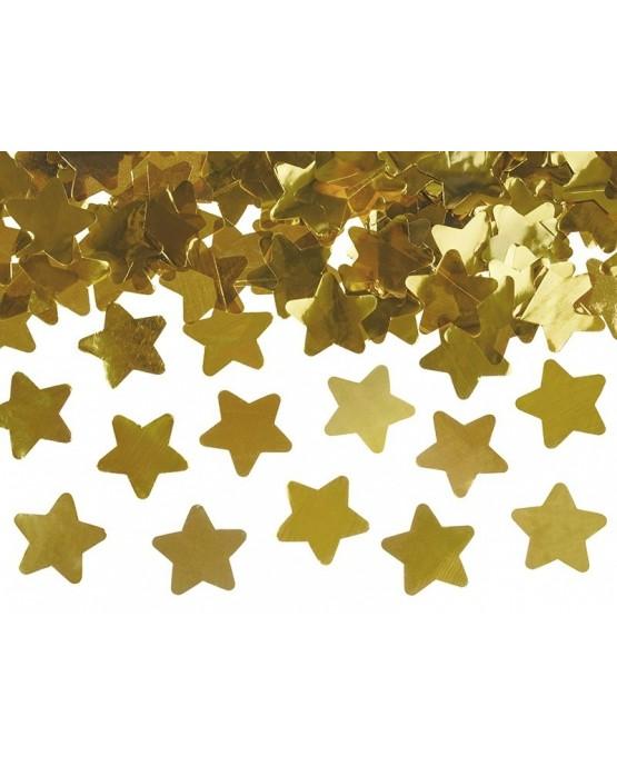 Konfety - zlaté hviezdy 40cm
