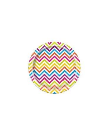 Tanieriky -farebné vlnky 18cm 8ks