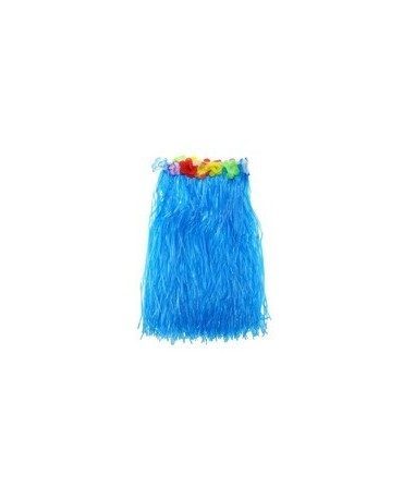 Havajská sukňa modrá s kvetmi veľ. M - 1 ks/P91