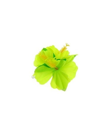 Havajská spona - kvet - zelený