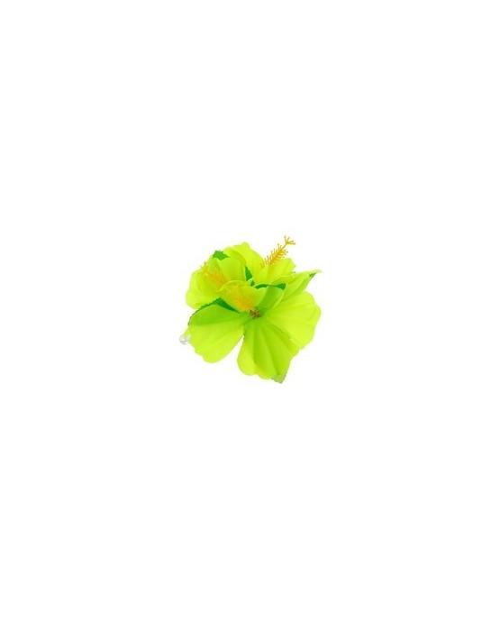 Havajská spona v tvare kvetu - zelený 1ks/P92