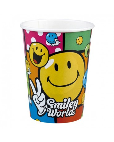 Poháriky Smiley World 266ml 8ks