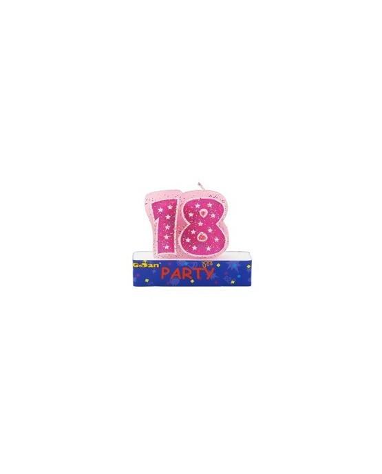 Sviečka Party - číslica 18  1ks/P84