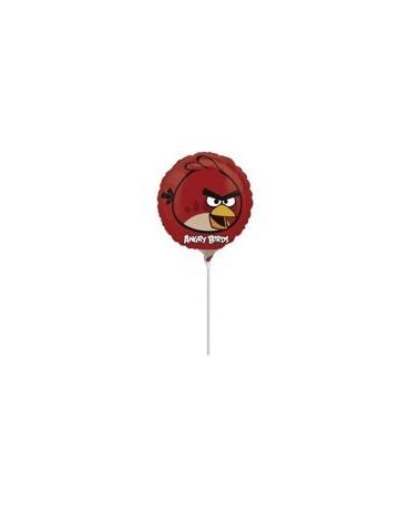 Fóliový balónik s motívom Angry Birds- červený 23cm 1ks/P54