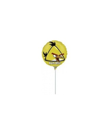 Fóliový balónik s motívom Angry Birds- žltý 23cm 1ks/P54