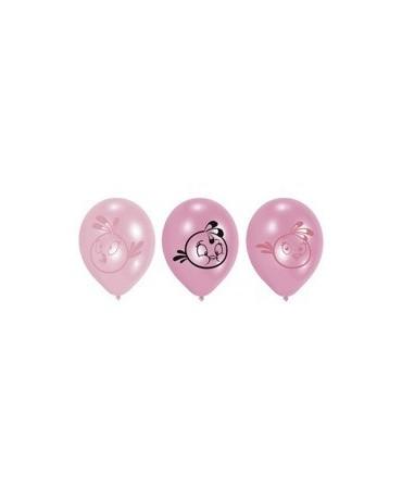 """Latexové balóny Angry Birds- ružové 10"""" 6ks"""