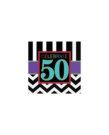 Servítky Celebrate 50    33cm 16ks/P87