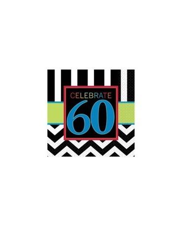 Servítky Celebrate 60    33cm 16ks/P88
