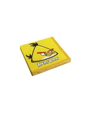 Servítky Angry Birds - žlté - 33 cm - 16 ks/P134