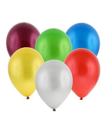 """Latexové balóny metalické- mix 11"""" 100ks"""
