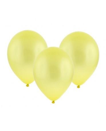 """Latexové balóny metalické-žlté 11"""" 100ks"""