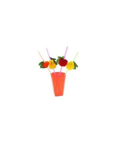 Slamky - ovocie - 24cm 50 ks